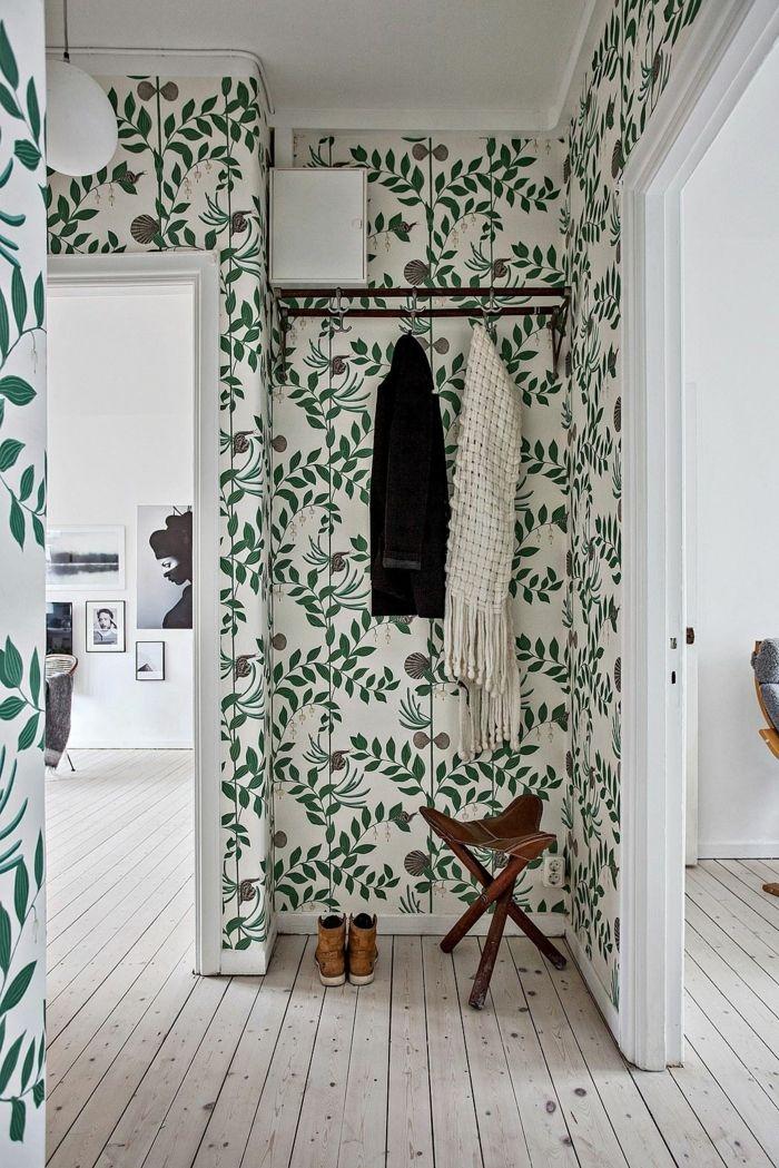 1001 ideas para decorar las recibidores peque os pintura pinterest papel pintado - Papel pintado para recibidores ...