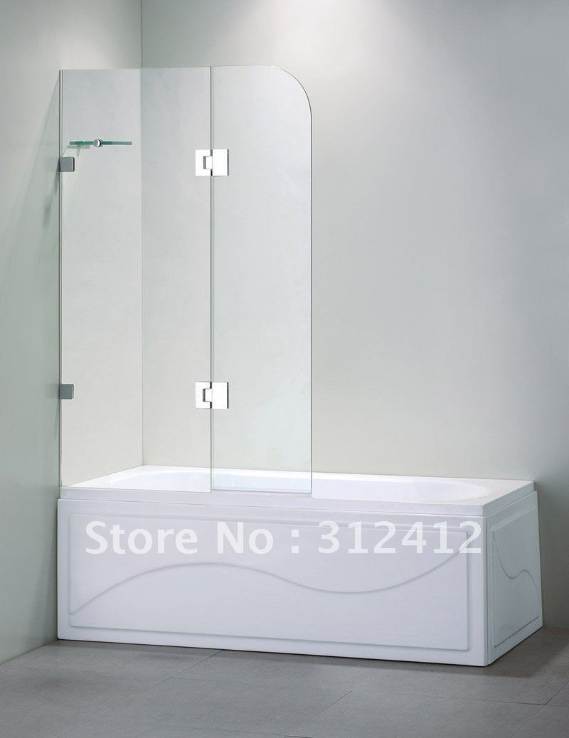Catchy Frameless Frosted Glass Shower Doors With Vigo Bath