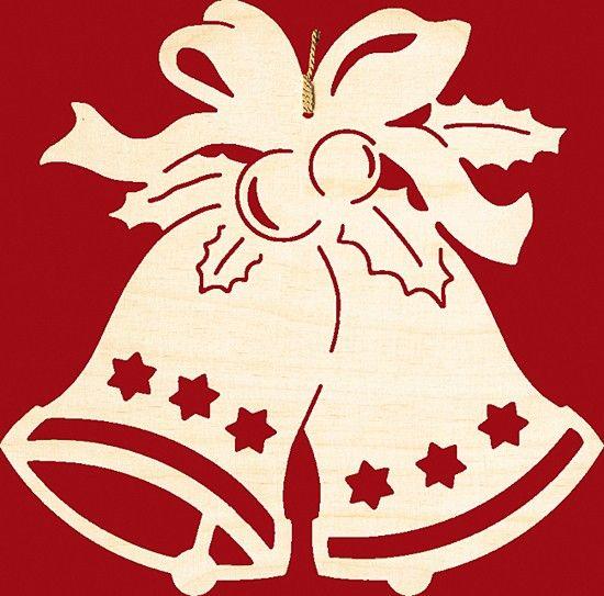 taulin fensterbild weihnachten glocke mit schleife für 8