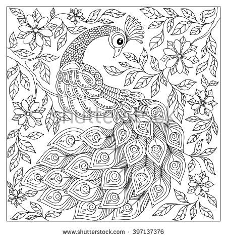 Vintage Black And White Native American Tattoo Sample photo - 5 - fresh detailed peacock coloring pages