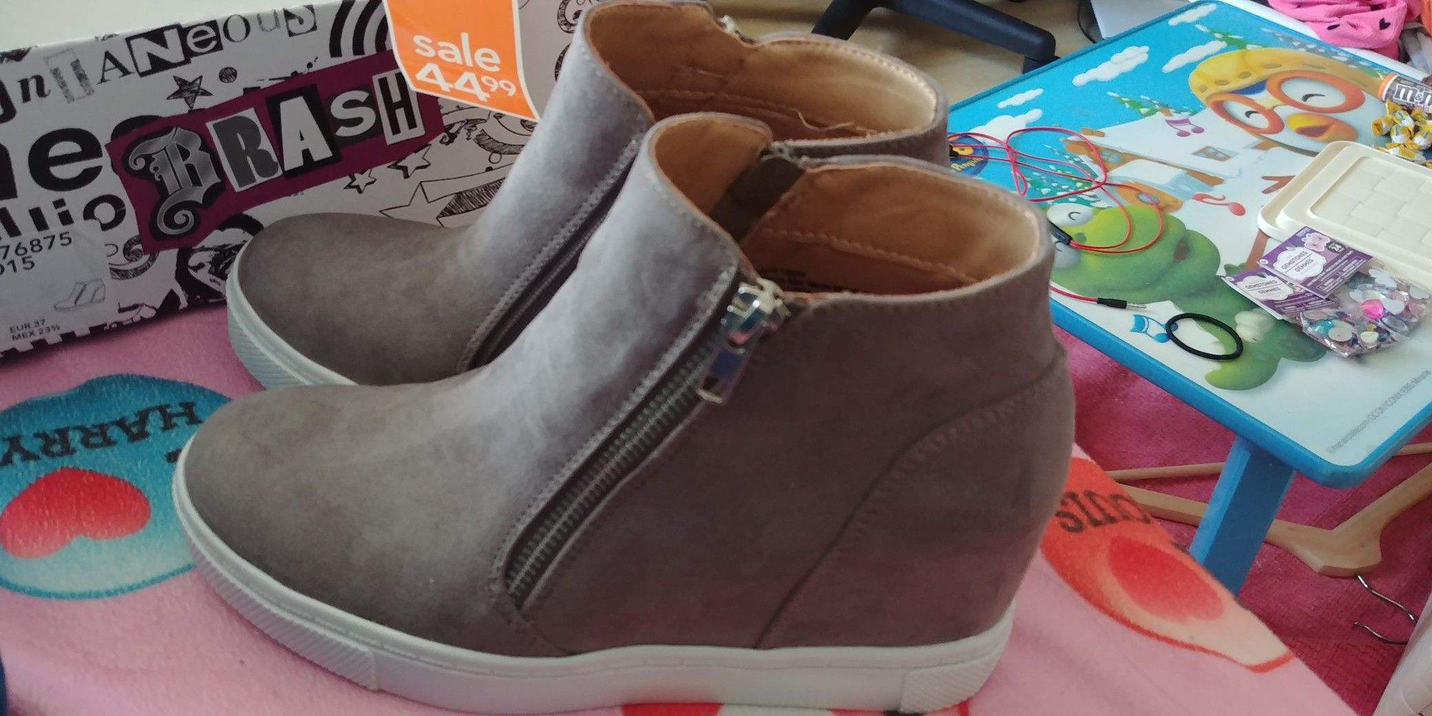 347ba2efe3c My Brand New Brash Grey CeCe Hidden Wedge Casual Sneakers That I Bought  Today From Payless ShoeSource   Coquitlam Centre Mall!