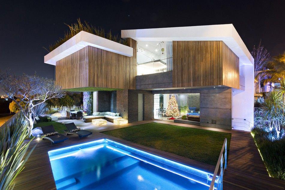 Planos de casa grande con piscina exclusivo dise o de - Casas modernas con piscina ...