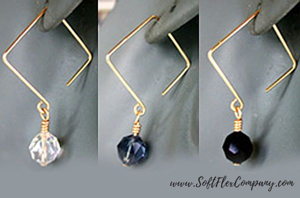 Square Ear Wire Earrings The Delphi WigJig is transparent, which is ideal for working with a patter