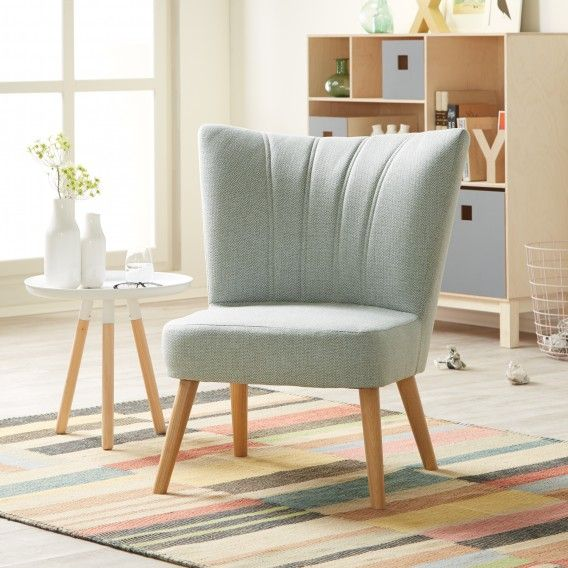 Sessel Oona III In Mint Mit Fischgrätenmuster Im Retro Look | Home24