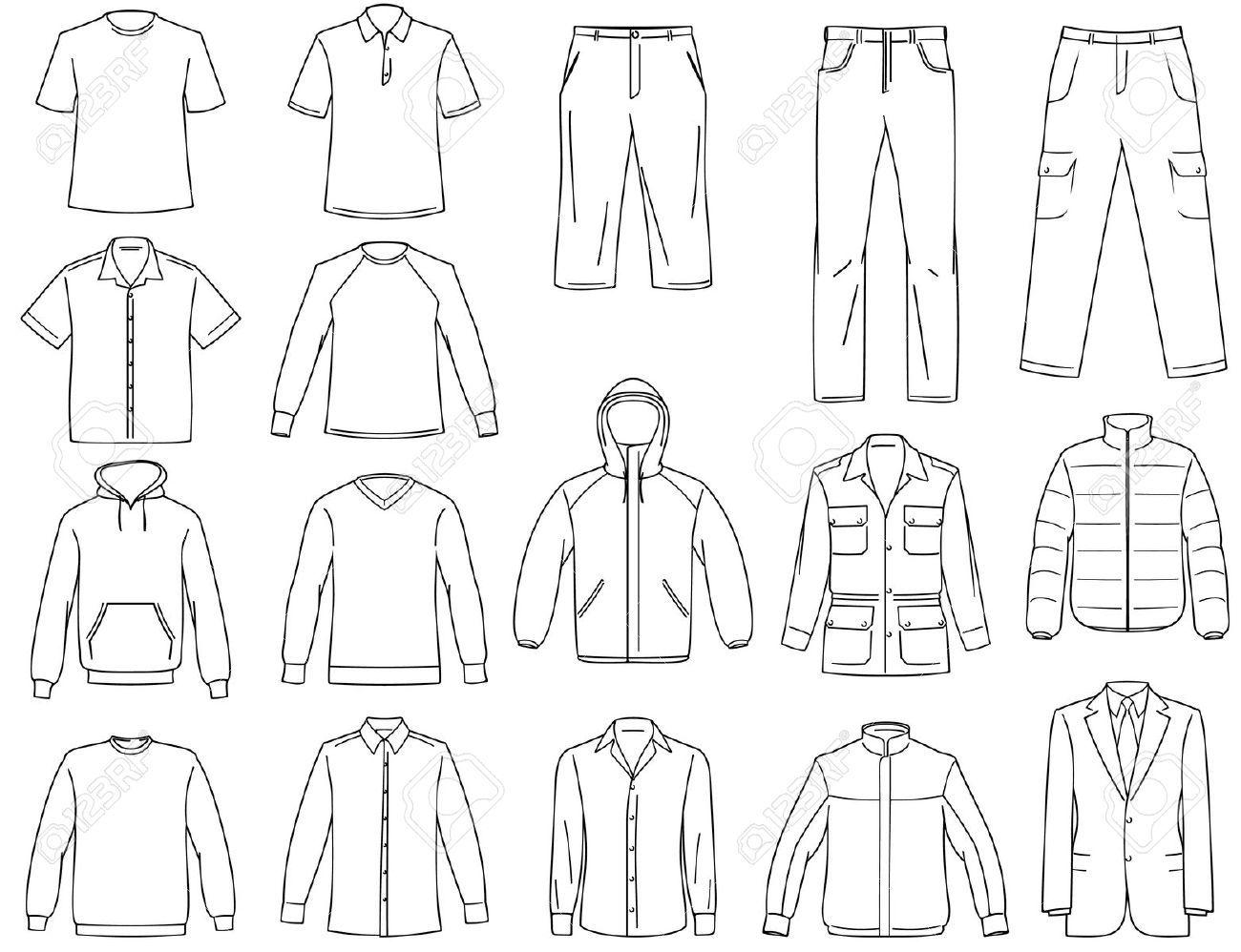 men s clothes illustration b w fashion sketches pinterest