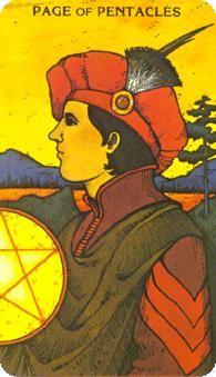 July 22 Tarot Card: Page of Pentacles (Morgan-Greer deck