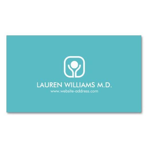 38 Fast Qa Resume Sample: Health And Wellness Logo On Aqua Business Card