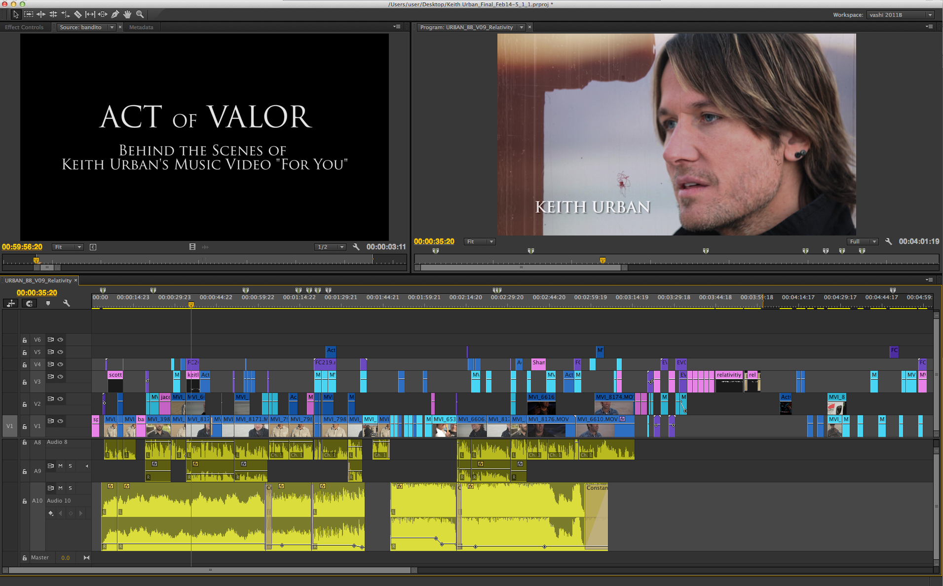 """Keith Urban """"For You"""" music video behind the scenes. http://vashivisuals.com/keith-urban-for-you-5-tips-for-music-video-behind-the-scenes/  #filmmaking #indiefilm #postproduction #premierepro #adobe"""
