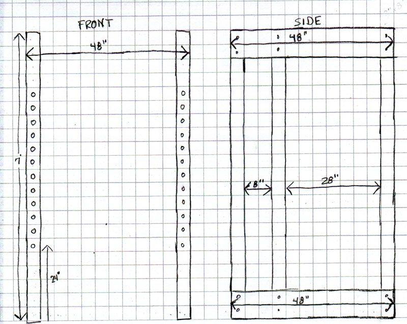 Wooden power rack plans homemade wooden power rack power for Homemade weight rack plans