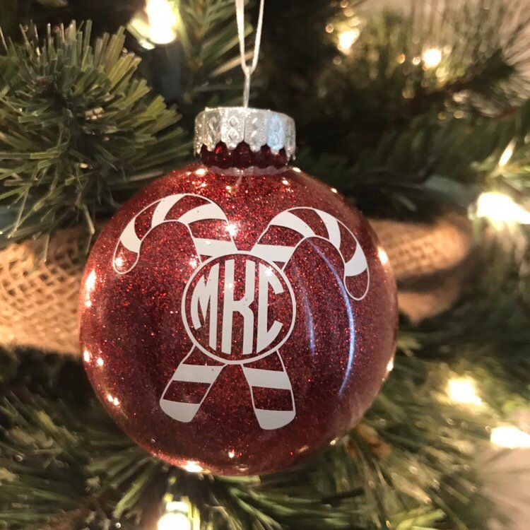This monogrammed custom Christmas tree ornament is personalized,  shatterproof and dated. Great gift idea for kids and grandkids. - Monogrammed Christmas Tree Ornament, Personalized Ornament