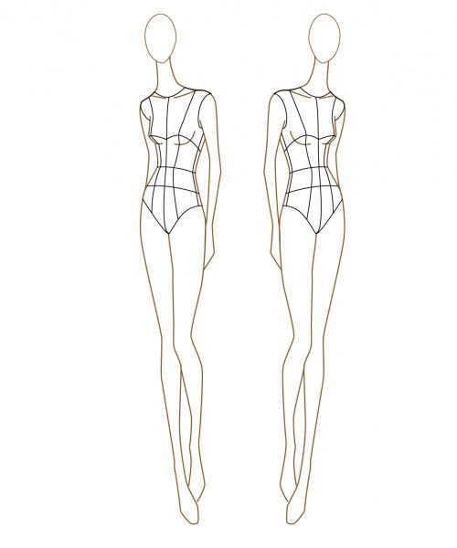 Blank-Female-Fashion-Sketch-Templates-500x600jpg (500×600 - blank fashion design templates