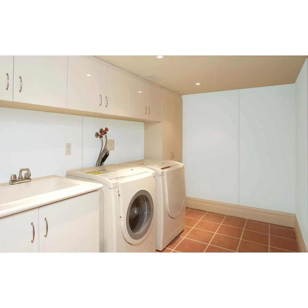1 16 in x 4 ft x 8 ft plastic panel 63003 laundry on laundry room wall covering ideas id=50400