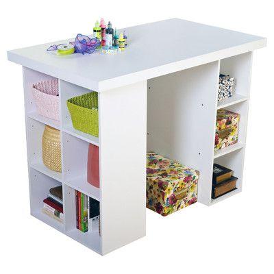 Tms Wood Craft Table Wayfair Supply Craft Tables With Storage Craft Table Craft Table Diy
