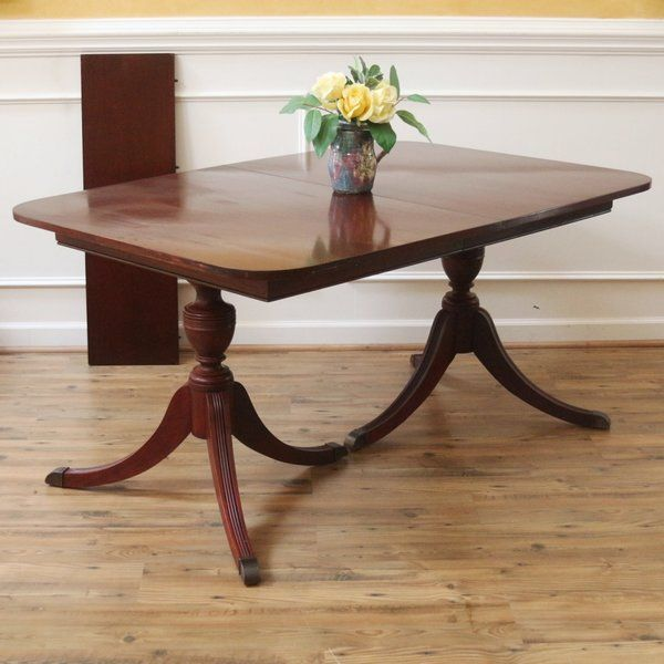 Vintage Duncan Phyfe Dining Table Mahogany American C1930 S