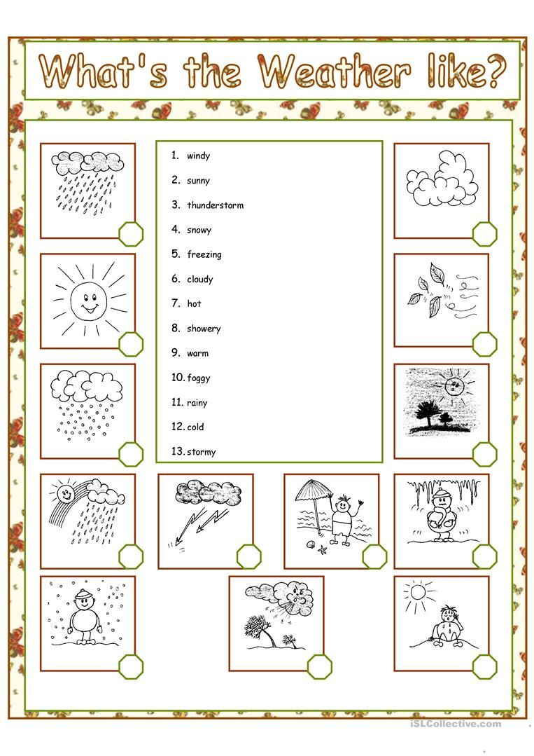 What S The Weather Like Worksheet Free Esl Printable Worksheets Made By Teachers Weather Worksheets Weather Elementary Weather Words