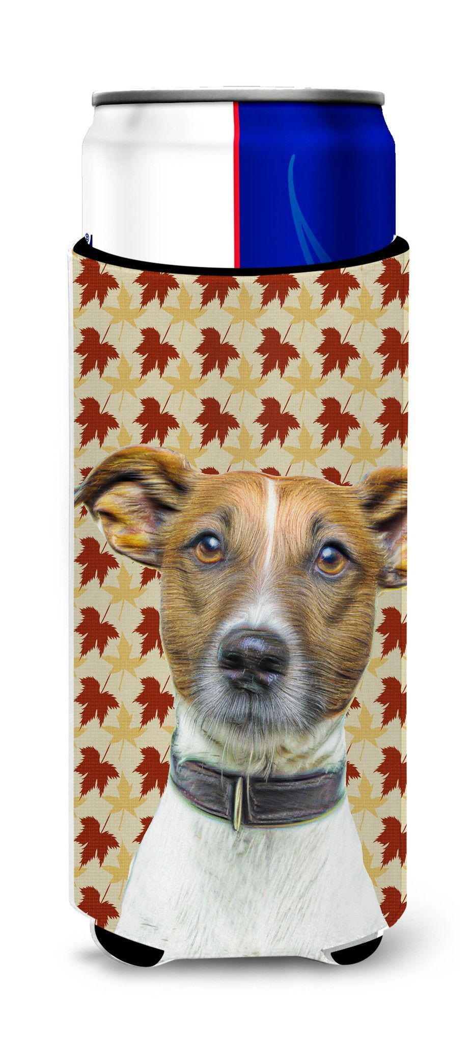 Fall Leaves Jack Russell Terrier Ultra Beverage Insulators for slim cans KJ1204MUK