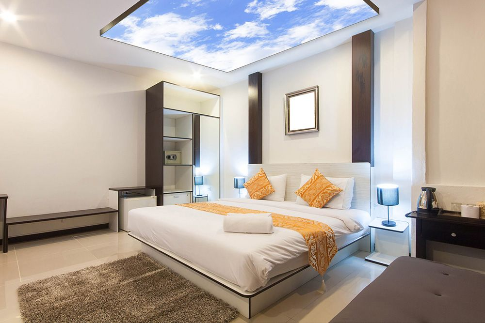 dalle lumineuse led en applique dans une chambre d 39 h tel maison pinterest dalles led et. Black Bedroom Furniture Sets. Home Design Ideas