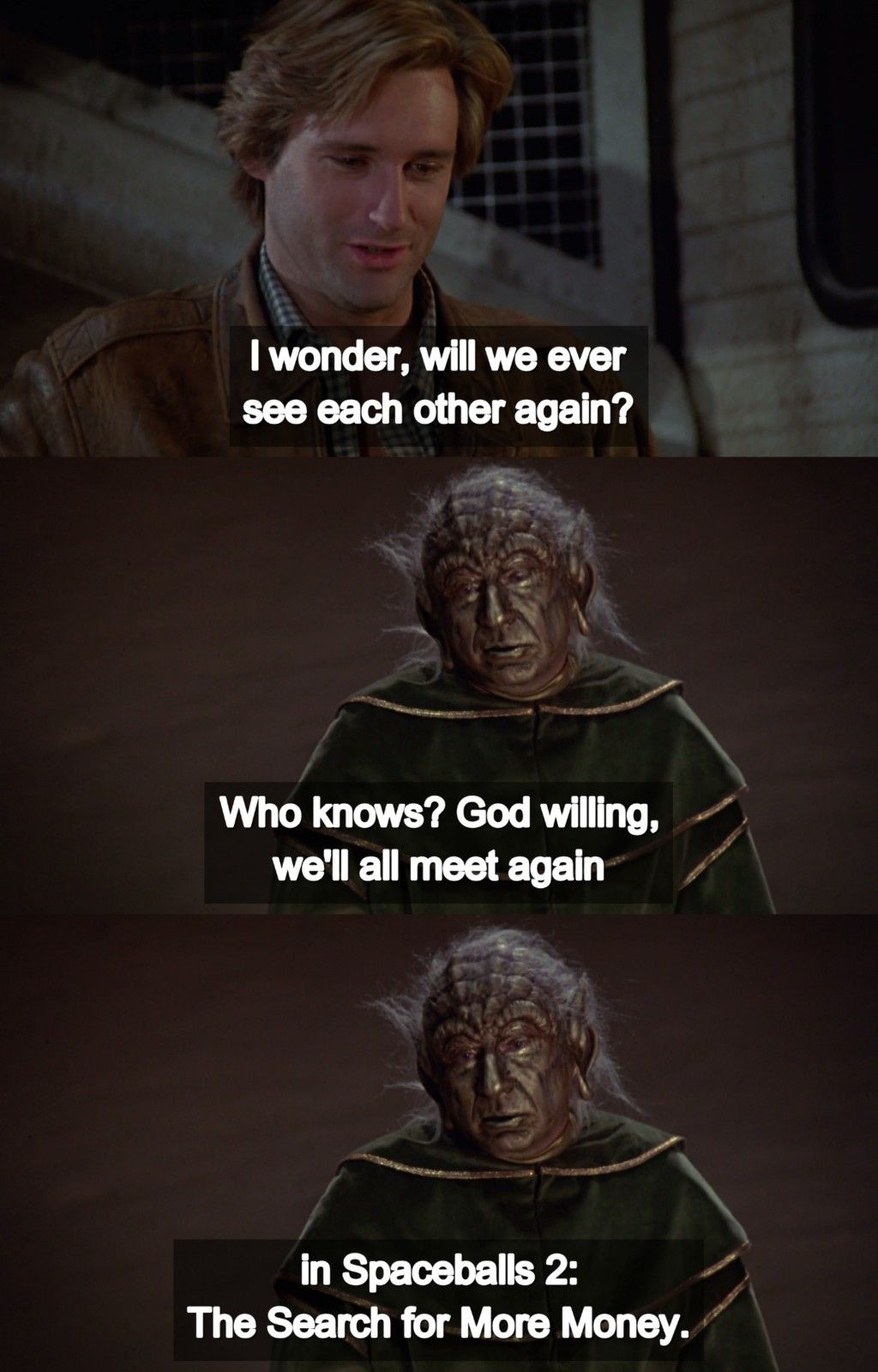 Spaceballs 1987 By Mel Brooks Tv Series Quotes Knowing God Brooks