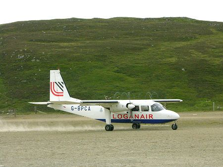 Loganair's Aircraft Takes Off from Fair Isle | Shetland Islands ...