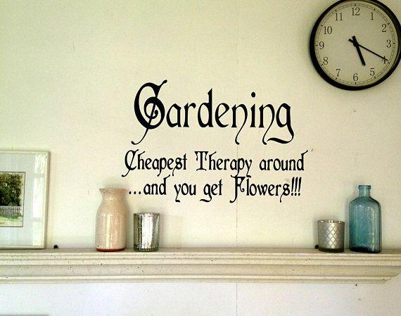 Gardening Word Decals,Vinyl Wall Decals,Wall Decal.wall Decals,word  Decals,Gardening Word Art,decal Art,wall Art,Gardening Wall Words Wall  Decals Au2026