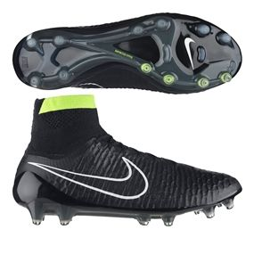 Nike Magista Obra FG Soccer Cleats (Black/White/Volt) | 641322-017 | Nike Soccer Cleats | SOCCERCORNER.COM