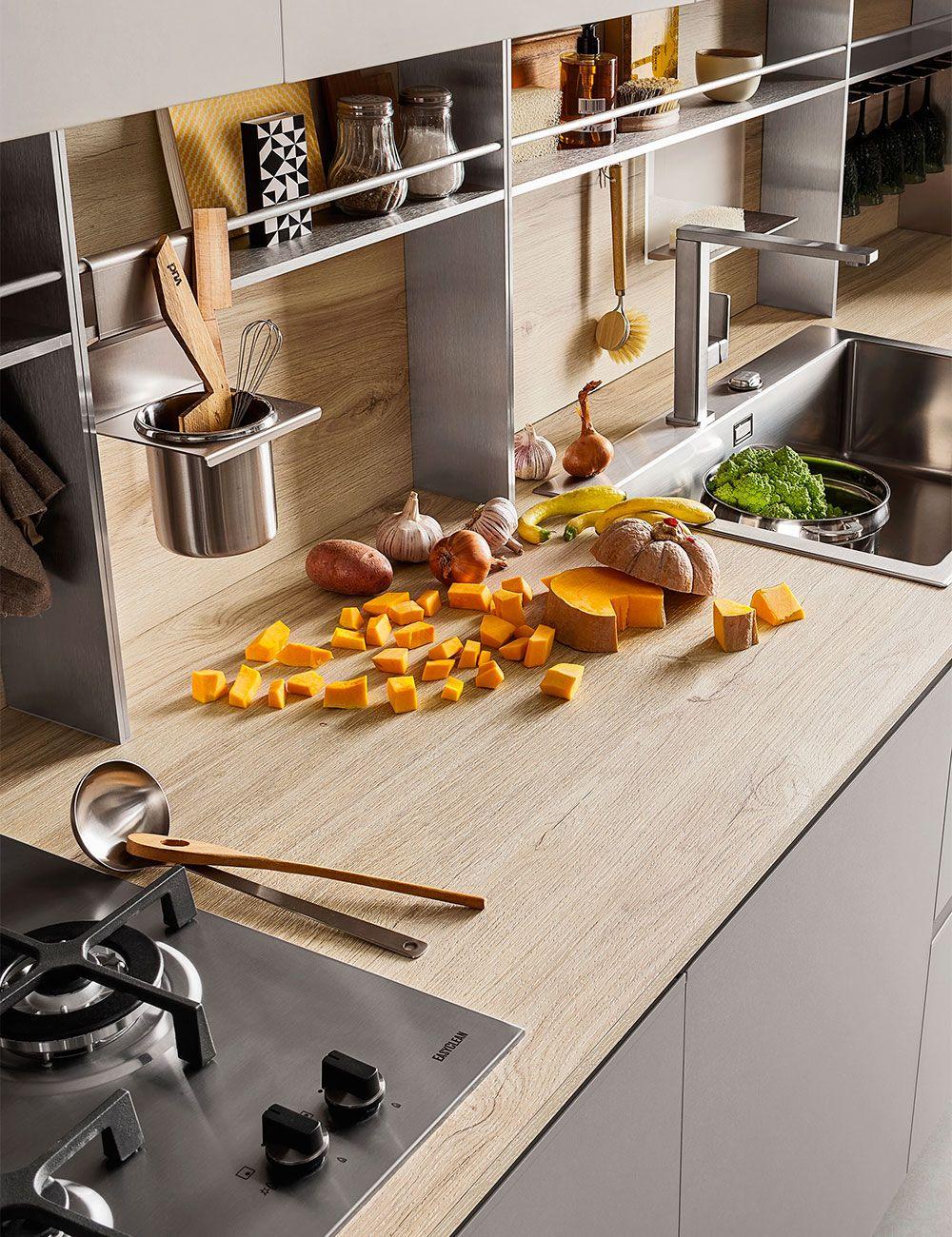 Piano Cucina In Laminato Effetto Legno Diotti Com Piano Cucina In Legno Cucina In Legno Arredo Interni Cucina