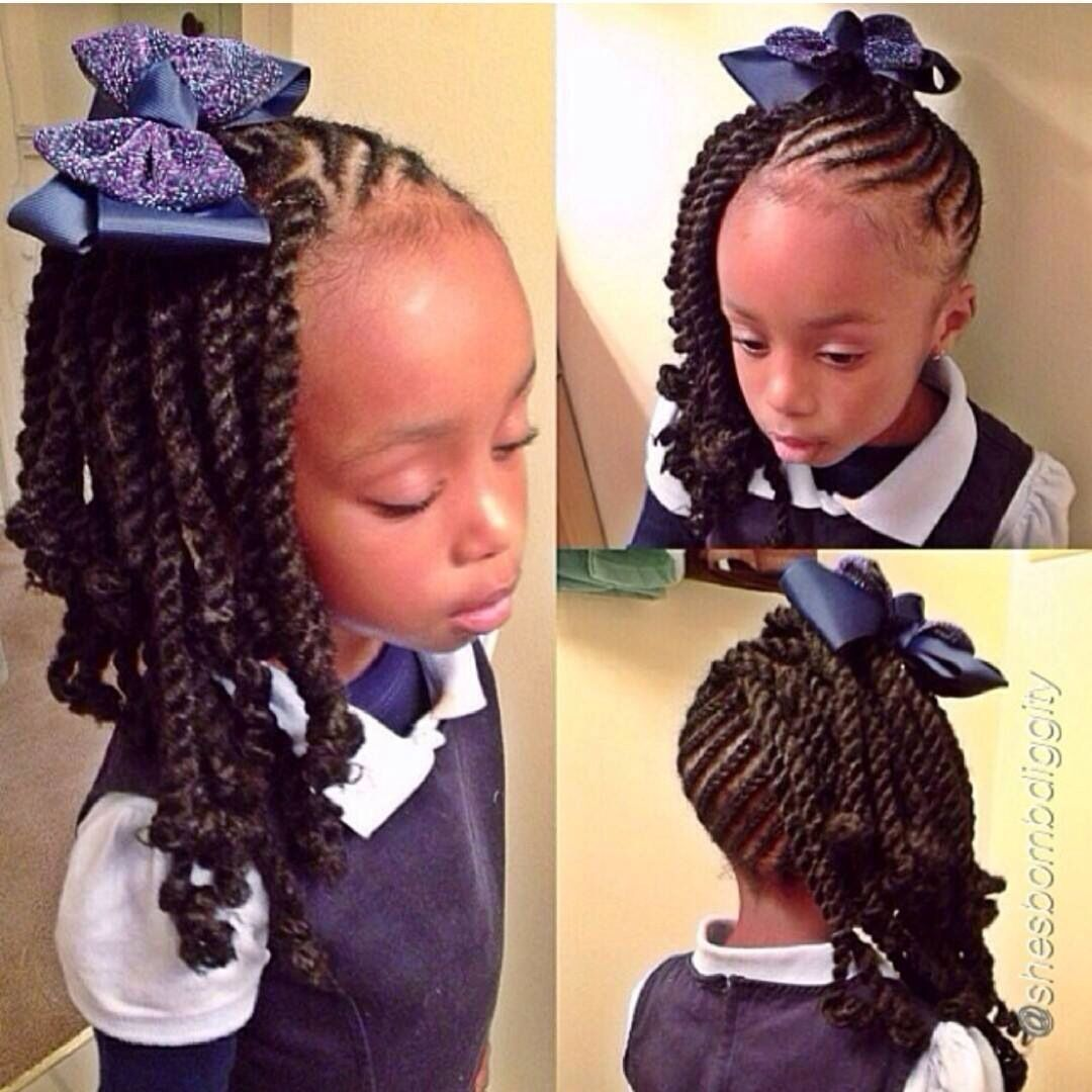 Too cute kiddie style braids pinterest kid hairstyles