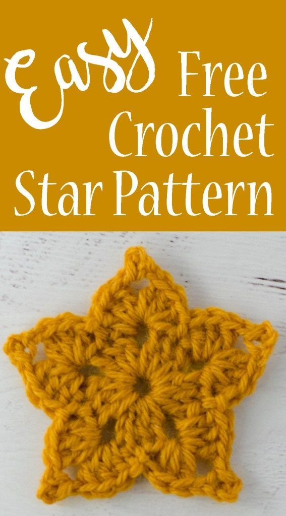 Easy Crochet Star Pattern Crocheting Pinterest Crochet Star