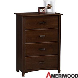 Best Ameriwood® Cherry Finish 4 Drawer Chest Dresser As 640 x 480
