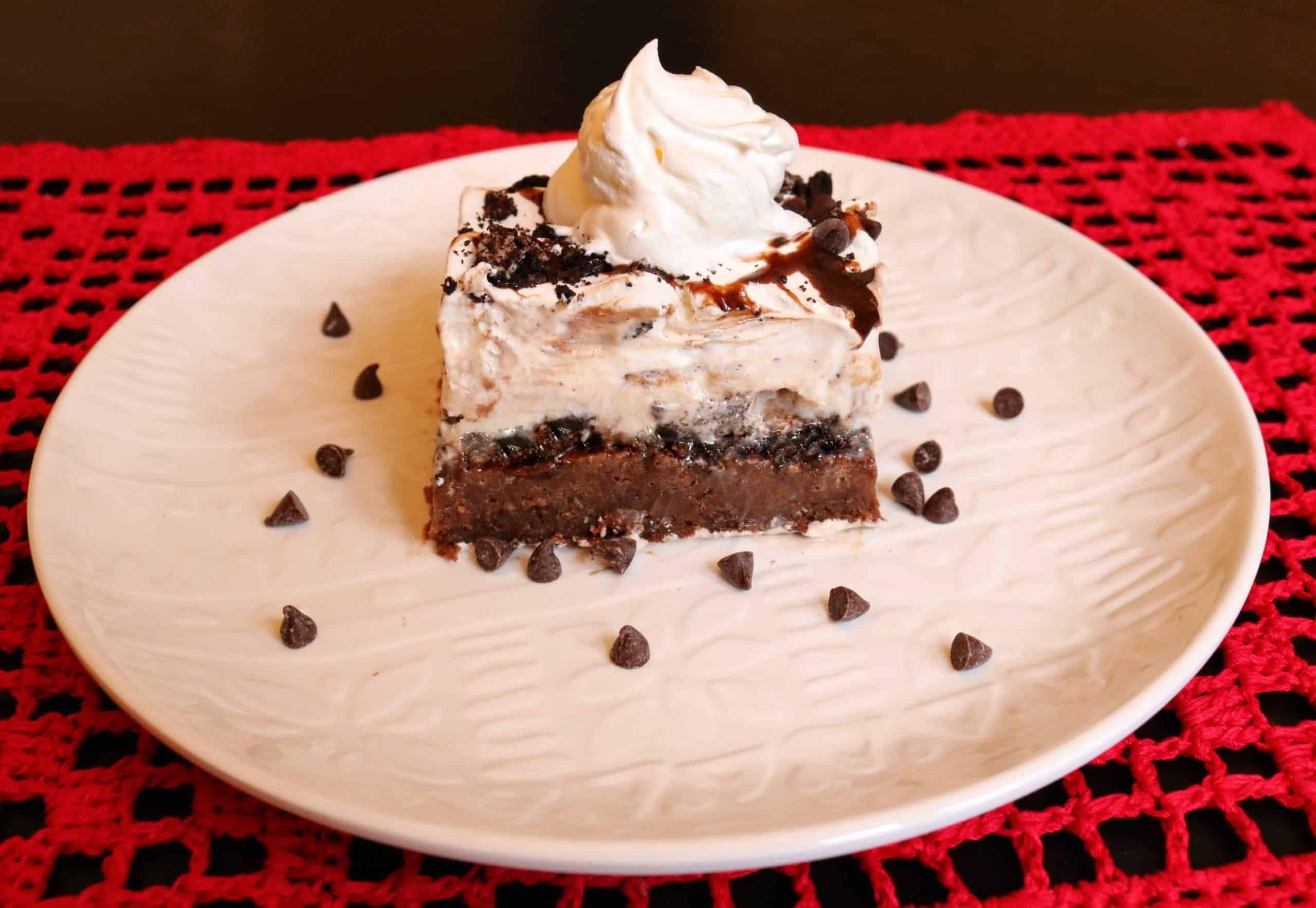 Brownie ice cream sundae cake recipe in 2020 fudgy