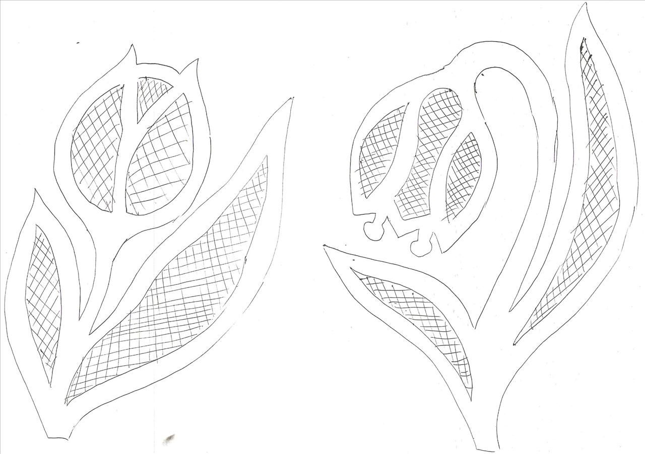 Wycinanka Tulipan Abstract Artwork Bobbin Lace Artwork