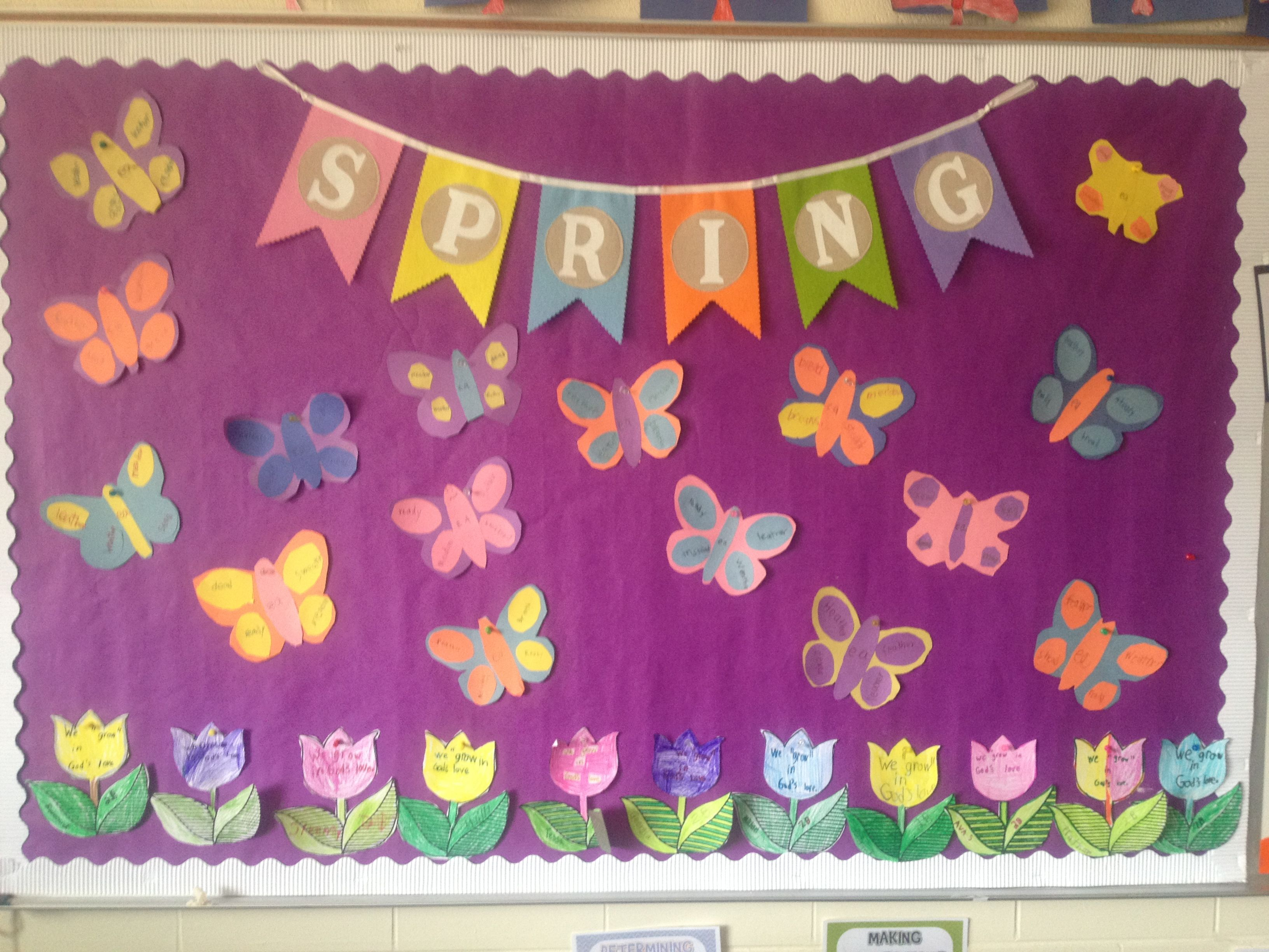 Go green vegetable bulletin board idea myclassroomideas com - Spring Bulletin Board