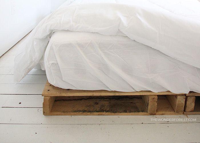 Photo of DIY: Easy Wood Pallet Bed Frame – Wonder Forest