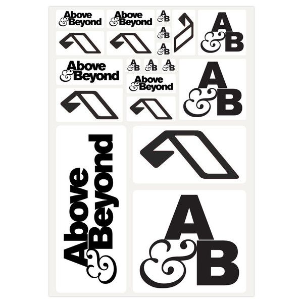 Anjunabeats Accessories Above And Beyond Sticker Pack Stickers