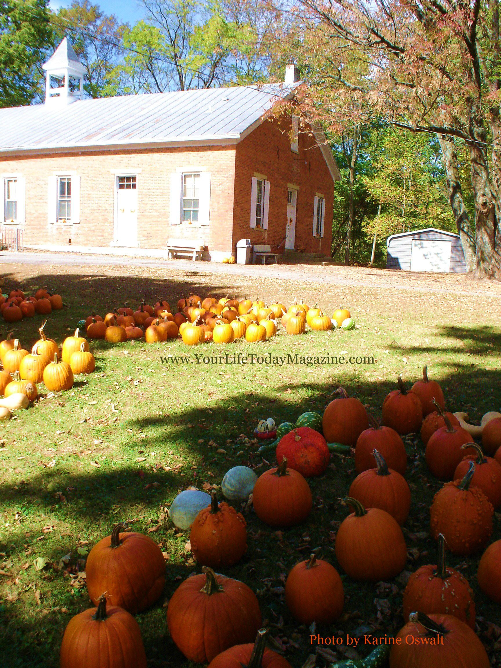 Pumpkins by New Garden Meeting House, Fountain City, Indiana  www.YourLifeTodayMagazine.com