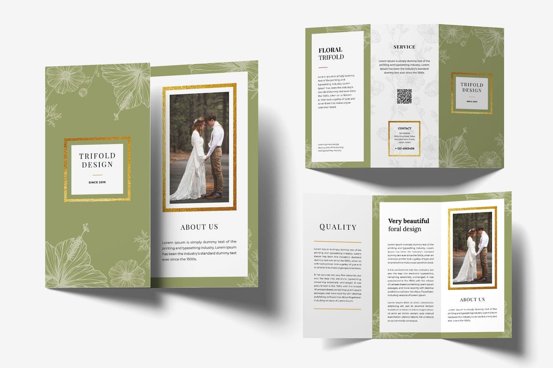 Wedding Trifold Brochure By Uicreativenet On Brochure Template