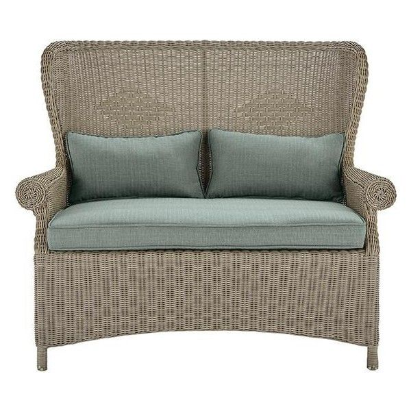 Home Decorators Collection Winchester Pebble Grey All Weather Patio Loveseat  With   The Home Depot