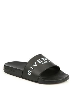 bc26fcacea43 GIVENCHY Logo Rubber Slides.  givenchy  shoes  slides