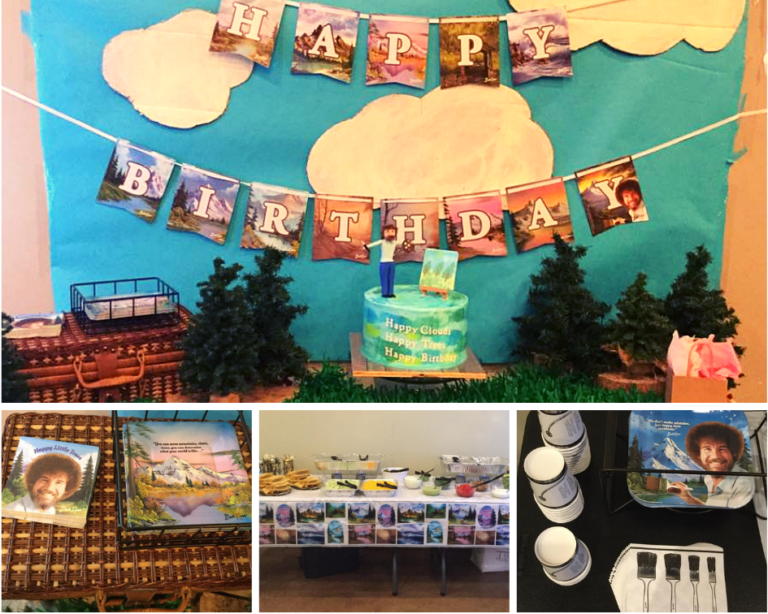 A Happy Little Birthday Party Bob ross birthday