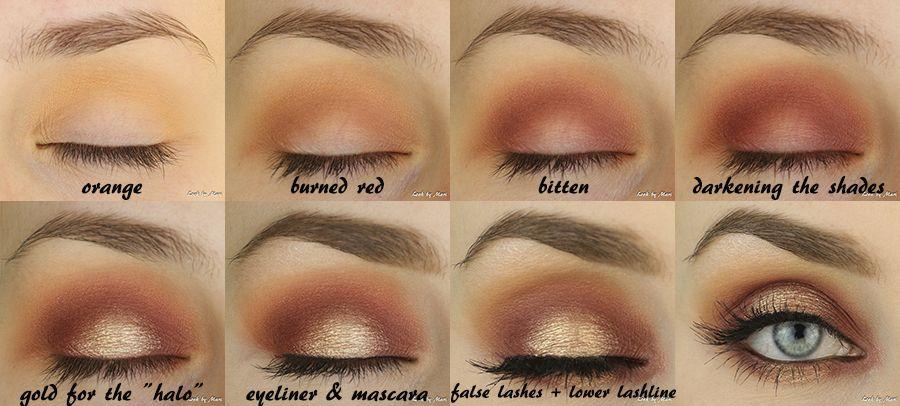 Halo Eye Makeup Orange Eye Makeup Burnt Orange Eye Makeup