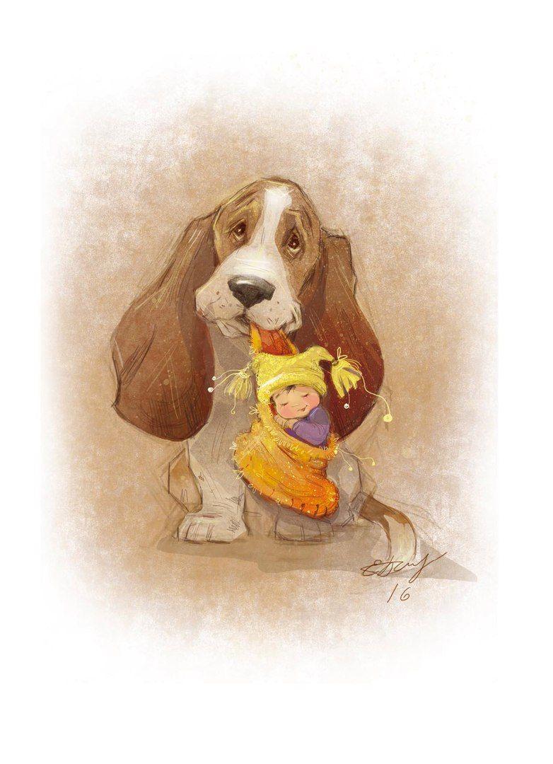 Рисунки прикольных собак, яйцом