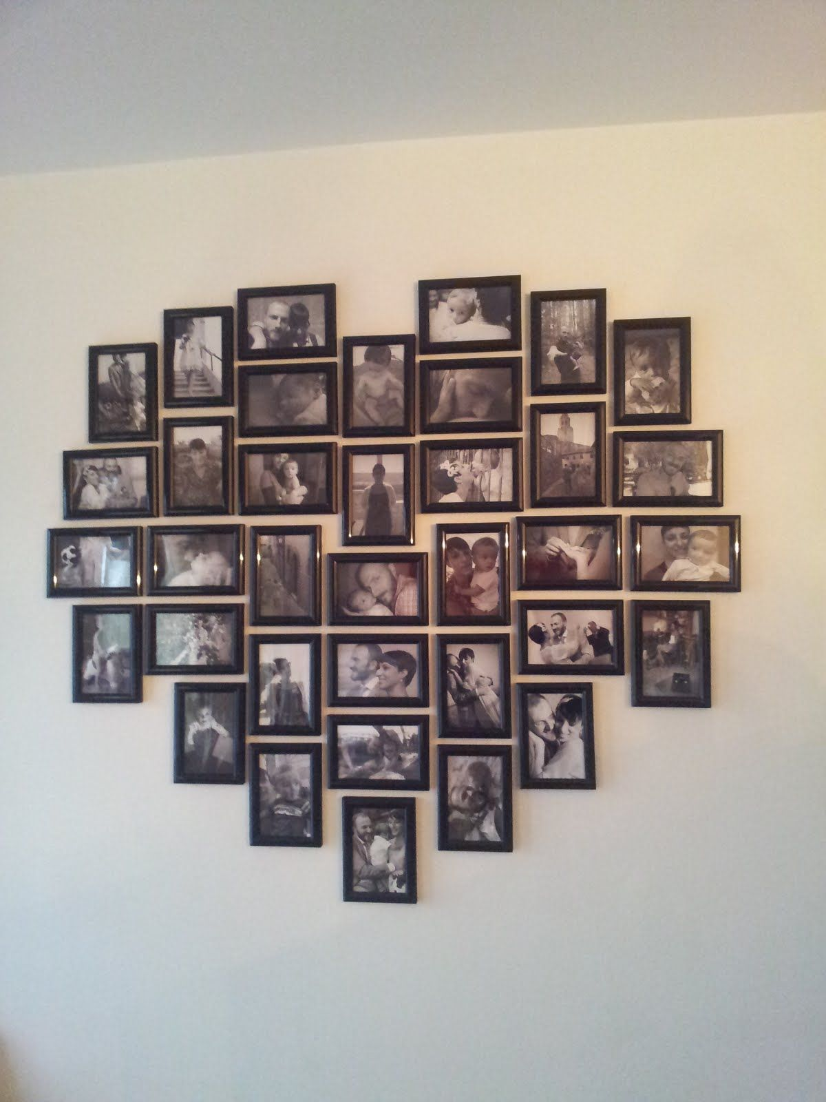 Bedroom Frame Arrangement  With Bs From Our Wedding