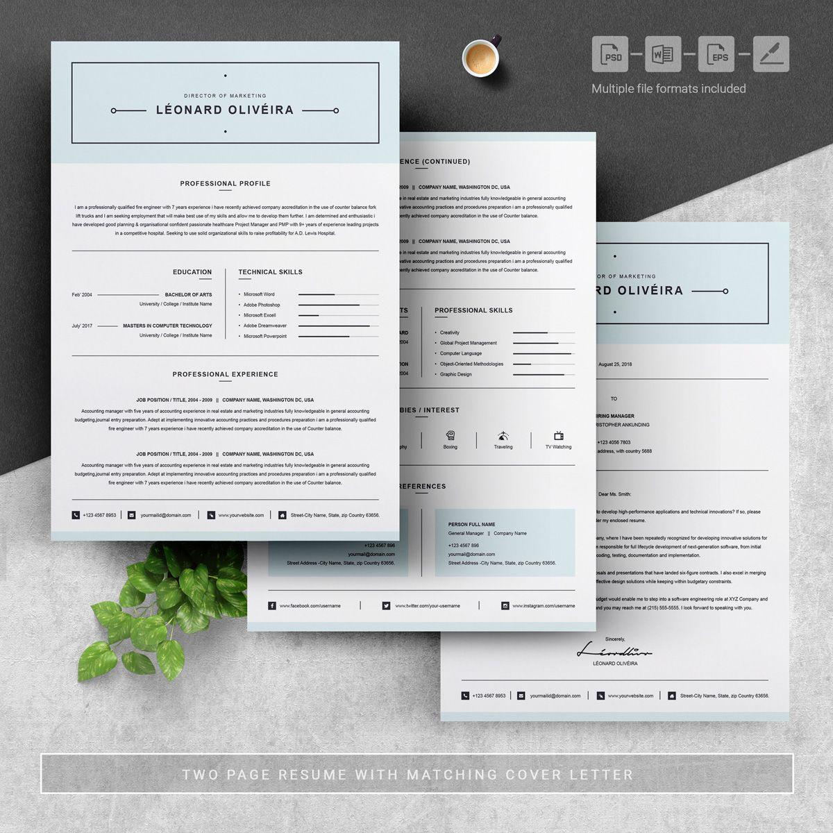 Leonard Resume Template 75230 Resume, Resume design