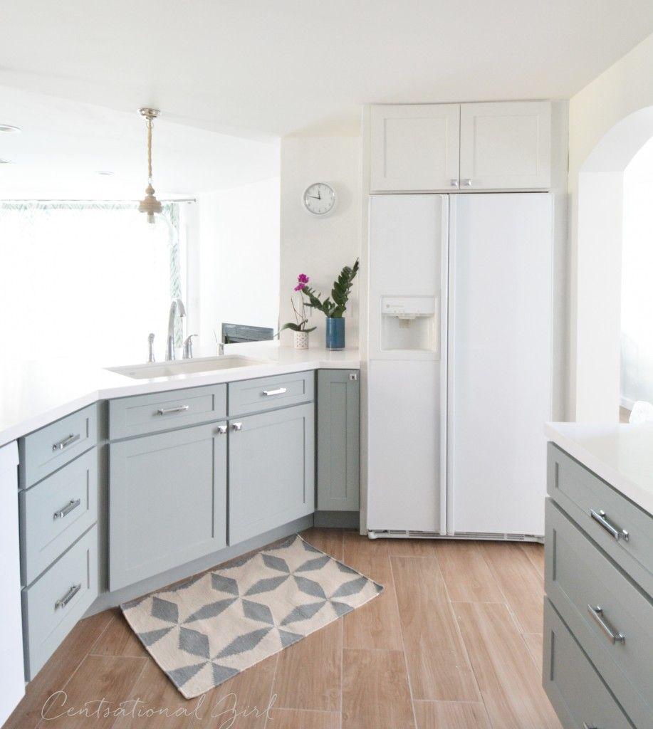 We\'re drooling over @centsationalgrl\'s chic kitchen remodel ...