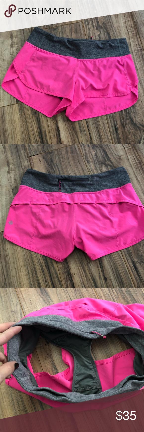 Lululemon Speed Up Short Hot Pink Size 4 Hot Pink Shorts Hot Pink Gym Shorts Womens