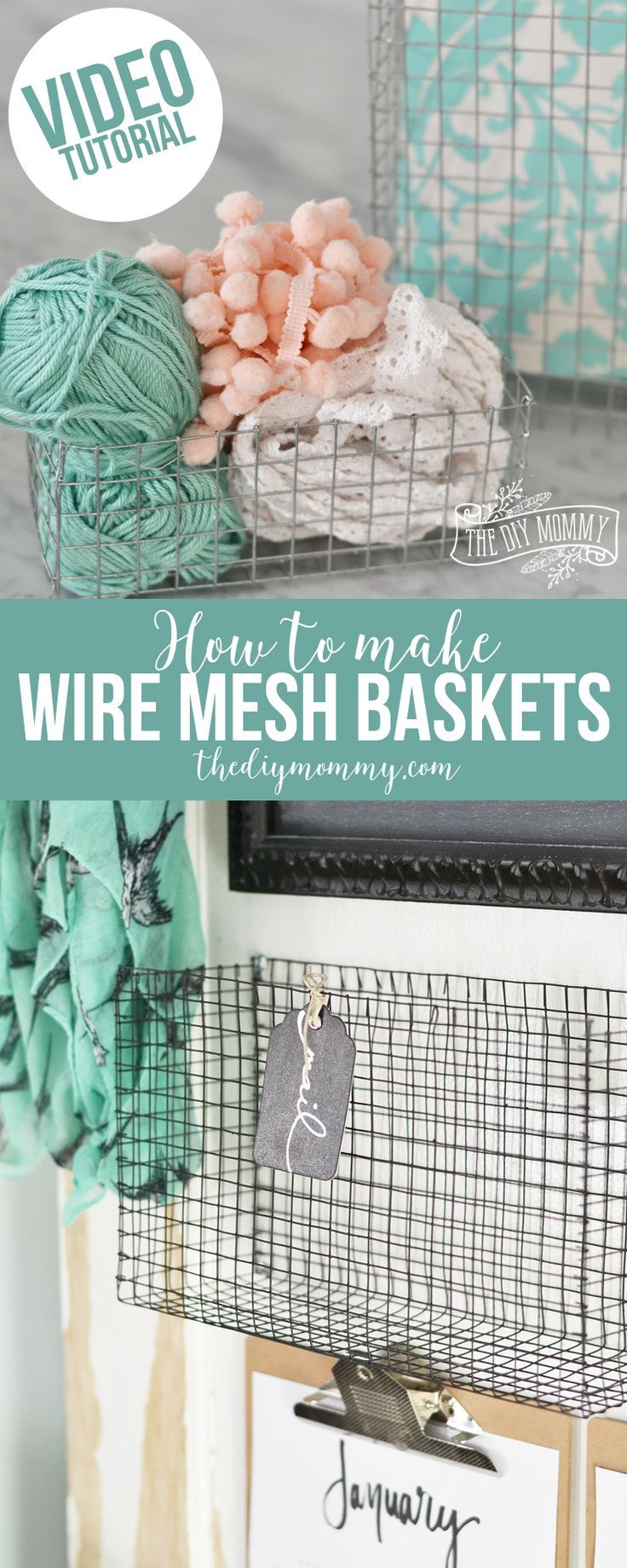 How to make DIY wire mesh baskets of any size - video tutorial ...