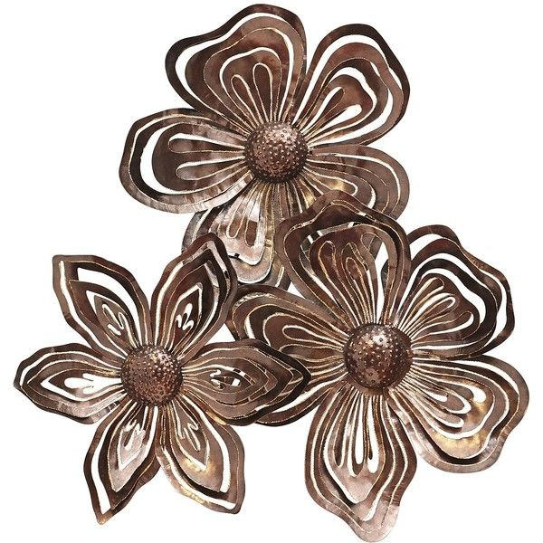 Copper Wall Decor pier 1 imports copper flower collage metal wall decor ($175