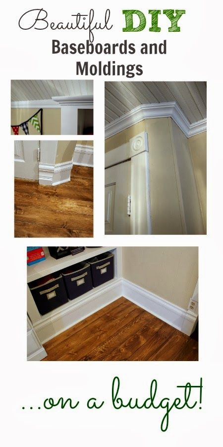 Lovely DIY Baseboard And Moldings. With Some Basic Tools, And A Few Tricks Up Your  Sleeve, You Can Create A Really Rich Look In Your Home On A Tiny Budget!