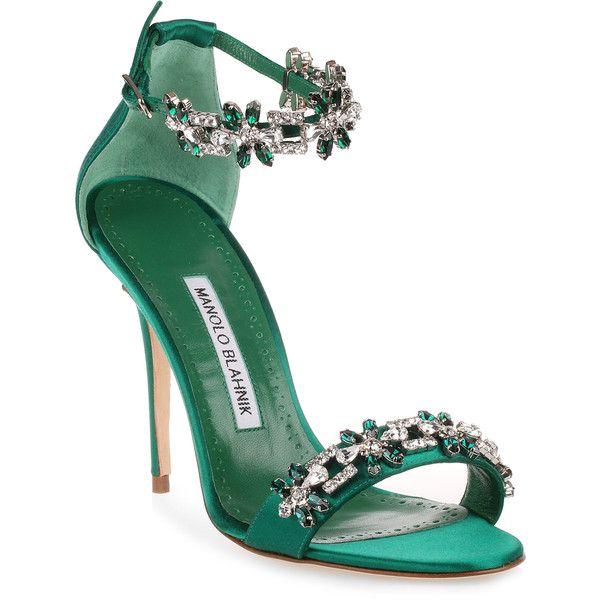 cc200f2d14e50 Firadou 105 Emerald Crystal Sandal ( 1