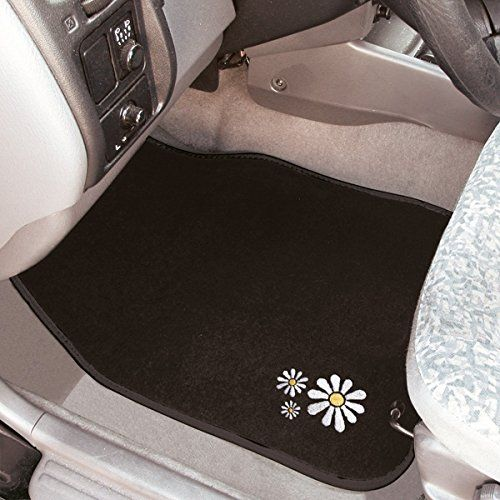 Xtremeauto 174 Black White Daisy Car Floor Mat Set X 4